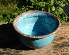 Hand Thrown Ceramic Bowl Medium Size by TheFathersMarket on Etsy, $15.99