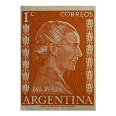 Sold! Eva Peron Argentina Poster ~ #stamps #macro #photography #evita #evaperon #peron #argentina #posters :)