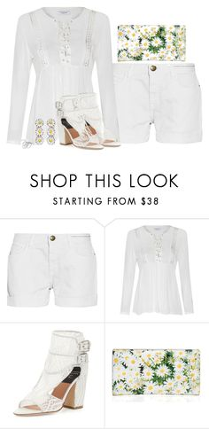 """""""Simply White"""" by bainbridgegal ❤ liked on Polyvore featuring Current/Elliott, Glamorous, Laurence Dacade, Kate Spade and Philippe Audibert"""