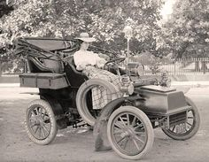 Here for your enjoyment is a one-of-a-kind image of Woman Driver. It was taken around 1907