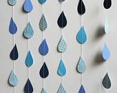 Stitched Paper Creations by polkadotshop Party Bunting, Bunting Garland, Garland Ideas, Buntings, Sunshine Birthday, Arts And Crafts, Diy Crafts, Rain Drops, Baby Shower Decorations