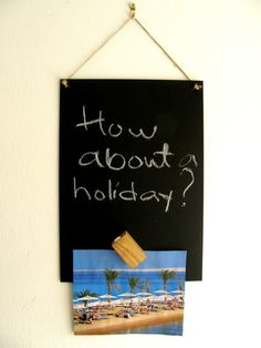 Shoply.com -Chalkboard /Magnet board with wooden magnet block and a chalk. Only £6.90
