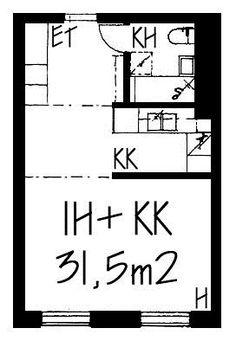 Vuokra-asunnot - Helsinki, Itä-Pasila, 1h+kk, 31,5m² - Jarrumiehenkatu 2, 00520, Helsinki | sato.fi