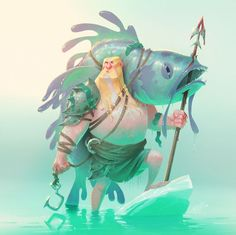 Geir, the ice-blooded Viking for the Character Design Challenge. My first entry to the challenge.: