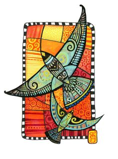 Flight by Tanya McCabe with Schmincke acrylic on Hahnemhle paper