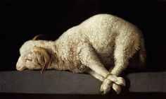 The 17th-century Spanish giant of religious painting, Zurbarán had a knack for evoking spiritual matters with simple images. A still life can suggest the Virgin Mary; a portrait of a kneeling monk, his face dark, communicates the eerie mystery of God. In this painting, he excels himself, seeing in a meticulously depicted spring lamb, its feet trussed for the slaughter, an image of the Passion. A great painting that finds profundity in the everyday world