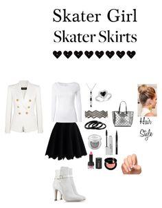 """Skater Girl ; Skater Skirts"" by starlyla on Polyvore featuring Chicwish, White Stuff, Alberta Ferretti, Balmain, Furla, Ippolita, Amour, Urban Decay, Stila and Trish McEvoy Skater Girls, Character Outfits, Alberta Ferretti, Furla, Polyvore Fashion, Skater Skirt, White Stuff, Style Inspiration, Urban Decay"