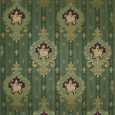 Historic reproduction wallpaper - maybe would work in a different colour?