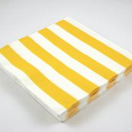 yellow white stripe napkins