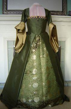 CUSTOM Renaissance Tudor French Gown Dress by welldressedlady, $450.00