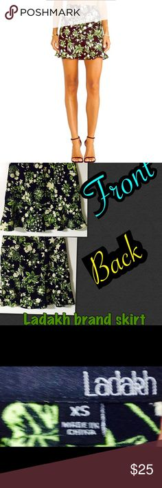 Ladakh green floral skirt NWOT Adorable and fun skirt by Ladakh, fun,bright, & great for summer! Stand out from the rest! Add a tank cute jacket, ankle boots, and your ready to face the world with confidence!One of Australian hottest fashion trends, the Ladakh girl wears a cool style,embraces her fun youthful spirit, Ladakh women also keep up with the latest fashion trends!Ladakh is featured in many famous Australian magazines! Awesome brand, awesome style! 100% poly,be comfy and stylish…