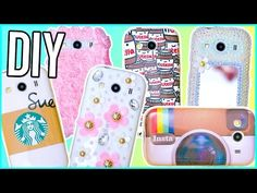 DIY Phone Cases | Nutella, Starbucks, Instagram & More! - YouTube
