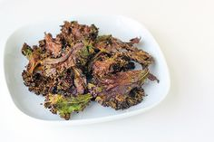 Chocolate Kale Chips--you won't believe how easy--and how delicious--these are! Why not combine the great antioxidant powers of kale and chocolate in one delicoius snack? #vegan #grainfree #recipe   rickiheller.com