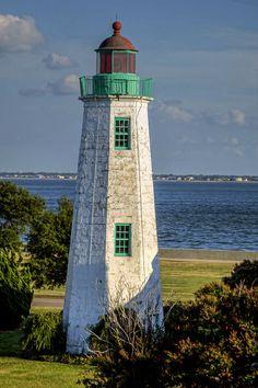 Old Point Comfort Lighthouse, Fort Monroe in Hampton, VA.