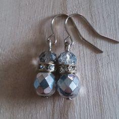 Silver crystal earrings  £2.99