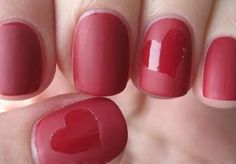 nail art designs for short nails 2014 *Not a fan of the matte polish, but I like the design*