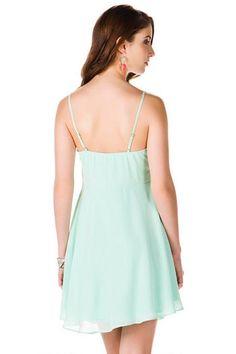 Calgary Chiffon Dress - mint-clback