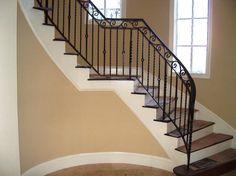 Beauteous Modern Black Wrought Iron Stair Railings Interior Design ...