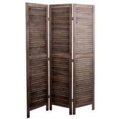 Biombo de madera 3 paneles
