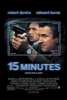 """""""..This crime thriller, a well-meritedcondemnationof tabloid, sensationalist journalism features a solid Robert De Niro as a sharp, but sentimental, media-star New York City police detective, a correct Edward Burns as a somewhat naive investigative New York City fire marshal and two media- and money-hungry, brutally violent, frankly insane """"eastern European"""" villains; there is no other word for them. Perhapssimplisticin premise, 15 Minutes, obviously a reference to Andy Warhol's famous…"""