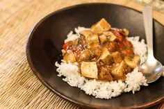 Tofu and Mushroom Curry in Ginger Mustard Sauce