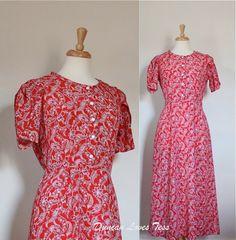Vintage 80s Paisley Maxi Dress by Duncan Loves Tess Vintage & Retro