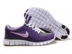 UK - Nike Free Run Womens Purple/Charcoal Grey/White