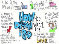 #graphic Facilitation - How to Draw on the iPad - Best Video for This that I have Seen. Great Tips and Great Ideas!