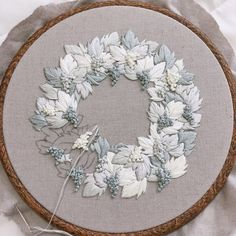 Ribbon Embroidery Patterns Wonderful Ribbon Embroidery Flowers by Hand Ideas. Enchanting Ribbon Embroidery Flowers by Hand Ideas. Brazilian Embroidery Stitches, Learn Embroidery, Hand Embroidery Stitches, Silk Ribbon Embroidery, Crewel Embroidery, Embroidery Hoop Art, Hand Embroidery Designs, Embroidery Techniques, Machine Embroidery