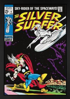 The Silver Surfer #4, signed by Stan Lee #Marvel #comics