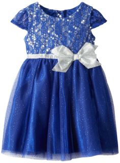 Amazon.com: Youngland Girls 2-6X Lace Sequince Mesh Dress: Clothing