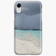 """""""Grey stormy weather, sandy beach and blue sea """" iPhone Case & Cover by Artlajf   Redbubble Iphone Wallet, Iphone 11, Strand, Iphone Case Covers, Finding Yourself, Beach, Abstract Art, Blue, Elegant"""
