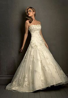 Tulle Princess Strapless With Flowers And Lace Chapel Train Wedding Dress picture 1