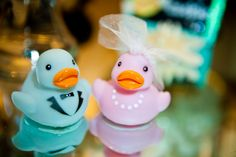OMG!!! These are SO much cuter than the traditional wedding duckies! wow! :D