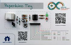 Building an Arduino out of Paper - Use cardstock instead as a circuit board to make cheap microcontroller boards.