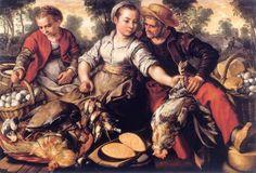 Joachim Beukelaer (Flemish painter c 1534-c 1574) Market Scene - Selling Poultry 1563