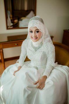 #Платья Белый Мусульманин Свадебные Платья# Высокого Шеи Длинным Рукавом Кружева Бисер Бальное Платье Вечерние Платья Свадебные Дубай Отgood Happy В Категории Взъерошенное Свадебное