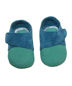 Loving this Green & Blue Loafer Booties on #zulily! #zulilyfinds