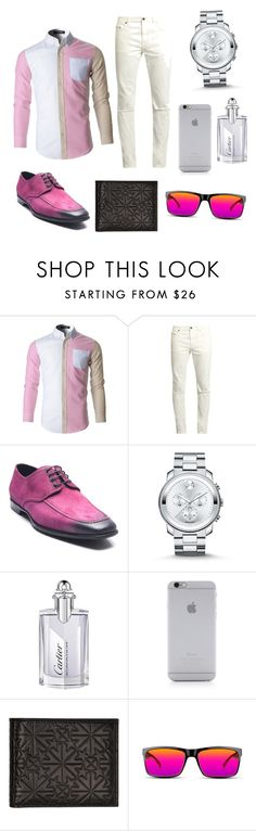 """pretty pink"" by alejandroaparicio ❤ liked on Polyvore featuring Yves Saint Laurent, Bruno Magli, Movado, Cartier, Native Union, Jimmy Choo, GlassesUSA, men's fashion and menswear"