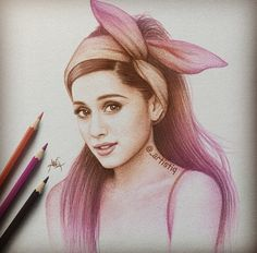 My idol Ariana grande  That is such and amazing drawing of her I can't believe someone drew this omg