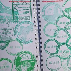National Park Passport, Us National Parks, Travel Stamp, Stamp Carving, Passport Stamps, San, Journal, Places, Books