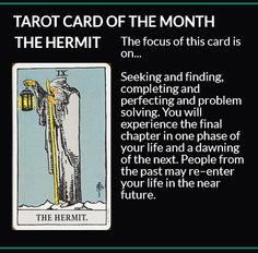 Featured Tarot Card for the Month: The #Hermit