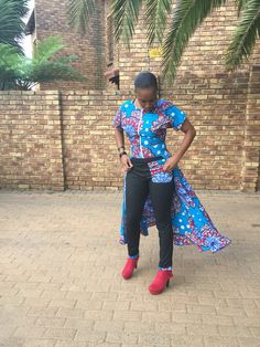 Ankara Flare Top with matching Joggings....#SunshowerLove