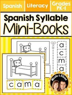 Interactive Spanish Syllable Mini-Books (Spanish)