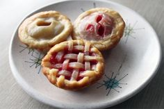 Miniature pies (made using cookie cutters and a cupcake/muffin pan)