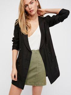 Sage Blush Modern Femme Denim Mini at Free People Clothing Boutique Paris Outfits, Fashion Outfits, Womens Fashion, Girl Outfits, Modern Outfits, Short Outfits, Long Leather Skirt, Parisian Chic Style, Denim Mini