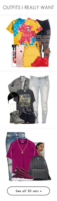 """""""OUTFITS I REALLY WANT"""" by mazzyfaye ❤ liked on Polyvore featuring art, Lee, Brandy Melville, Maria Francesca Pepe, Timberland, MCM, NIKE, Chanel, Ralph Lauren and Smythson"""