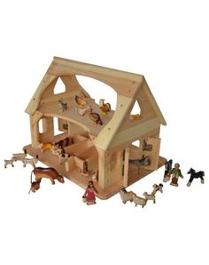 Maine Saltwater Farm Ultimate Play Set with Georgian Wooden Animals-Elves & Angels