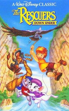 An 1990 sequel to the original Rescuers film. Bernard and Bianca are sent to Australia to rescue Cody, a young boy abducted by McLeish the poacher. Meanwhile Bernard is working up the courage to ask his partner to marriage. Kid Movies, Movies And Tv Shows, Movie Tv, Netflix Movies, Movie Props, Disney Posters, Movie Posters, Back In The 90s, Walt Disney Pictures