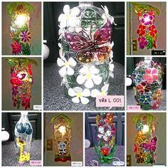Light from plastic bottles, Lamp from plastic,Light, from, plastic, bottles (Flaschenlampe Bottle Lights)